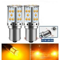 Ampoule LED BA15S P21W 30 SMD Orange Canbus