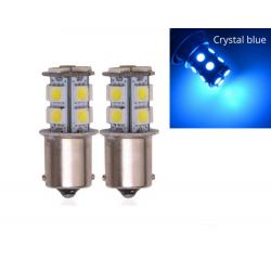 BA15S LED Ampoule P21W 13 SMD Bleu Cristal