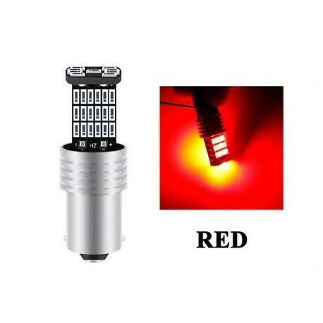 BA15S Ampoule LED P21W Rouge Canbus 45 SMD