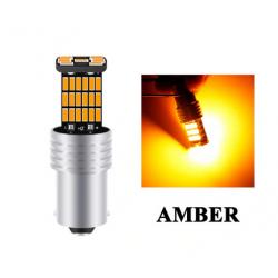 BA15S LED P21W Ampoule Orange Canbus 45 SMD
