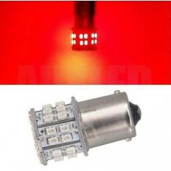 1x Ampoule BA15S LED P21W 50 SMD Rouge