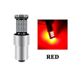 Ampoule LED BAY15D P21/5W 40 SMD Rouge Canbus