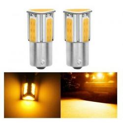Ampoules LED BAU15S ORANGE 1156 PY21W COB