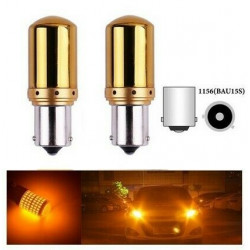 Ampoules BAU15S LED PY21W 144 SMD Canbus Chrome Orange