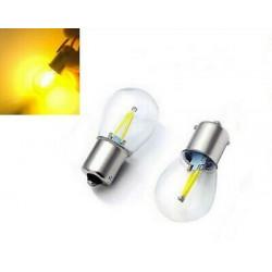 Ampoules BAU15S LED PY21W Filament Orange Clignotants