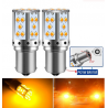 Ampoules LED BAU15S PY21W 30 SMD Orange Canbus