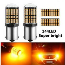 AmpouleS BAU15S LED ORANGE PY21W 144 SMD