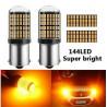 Ampoules BAU15S LED ORANGE PY21W 144 SMD Extra Clignotants 1156