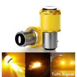Ampoules BAU15S LED ORANGE PY21W 9 SMD