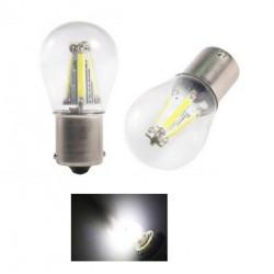 2x Ampoule P21W LED BA15S COB Blanc 6000K