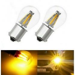 Ampoules BAU15S LED PY21W 4 Filaments Orange pour Clignotants