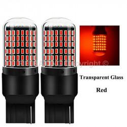 Ampoules T20 LED W21W 144 SMD Canbus Rouge pour feux stop freins