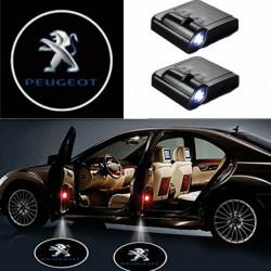 Peugeot LED Lumière de Courtoisie Ghost Shadow Light Logo Porte de voiture