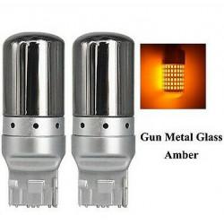 Ampoules T20 LED W21W 144 SMD Canbus Orange pourclignotants