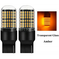Ampoules T20 LED WY21W 144 SMD Canbus Orange pour clignotants