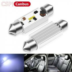 Ampoules LED 31mm C5W Navette CSP Canbus Veilleuses Blanc 6500K