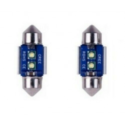 Navettes Ampoules LED 31mm CREE Canbus Veilleuse Extra Blanc 6000K
