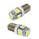 Ampoule BA9S LED T4W 6000K 5 SMD H5W T2W T3W