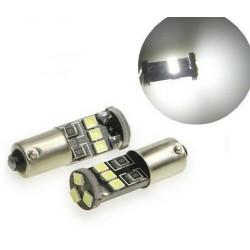 Ampoule BA9S LED T4W Canbus 8 SMD Lumiere 6000K