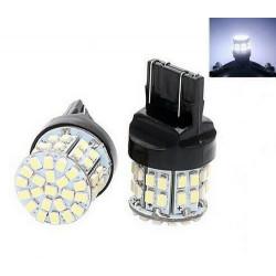 Ampoules T20 LED W21/5W Blanc Veilleuses 7443 feu de jour 50 SMD