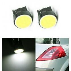 Ampoules T20 LED W21W COB Blanc 6500K 7440 phares Veilleuses