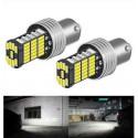 Ampoules LED P21W BA15S veilleuses Canbus 6000K Feux de recul voiture