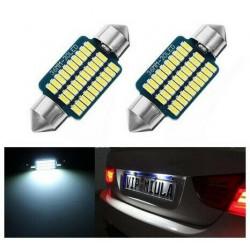 Ampoules 36 mm Navette 21 LED Blanc Xenon 6500K Canbus