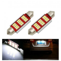 Ampoules LED 36 mm Canbus 12 SMD Canbus Veilleuses BLANC 6500K