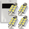 4x Ampoules C5W 36mm 6 LED Canbus SMD Blanc 6000K