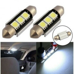 Ampoule C7W LED 36mm Canbus 3 SMD