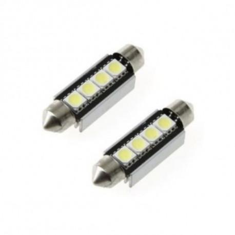 Ampoule navette à LED 42mm SMD 4 leds Canbus