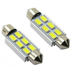 Ampoules 42mm LED Canbus 6 SMD 6500K C10W