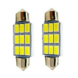 Ampoules C7W 39mm LED Canbus 6 SMD Blanc 6500K