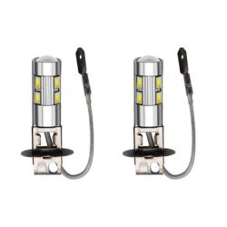 Ampoules H3 LED 10 SMD 6000K Anti Brouillard Phares