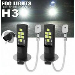 Ampoules H3 LED 12 SMD 6500K