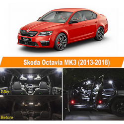 Pack Ampoules leds Blanches Skoda Octavia phase 3