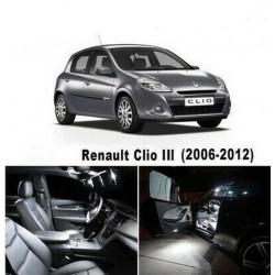 ampoules leds Interieur Renault Clio 3 Blanc