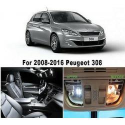 Pack ampoules leds Interieur Peugeot 308