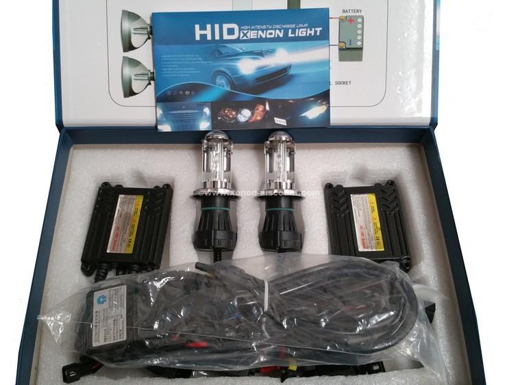 Kit Bi-xénon H4 6000K 35W slim + Paire de Leds Offerte
