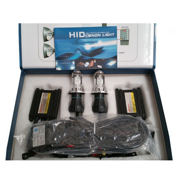 Kit Bi-xénon H4 8000K 35W Slim + Paire de Leds Offerte