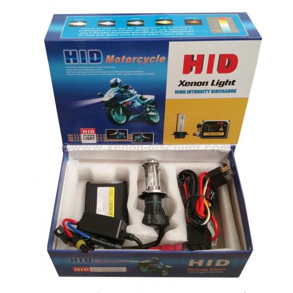 Kit Bi-xénon moto 55W H4 12000K + Relais