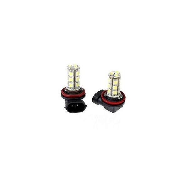 2 ampoules à Leds H11 - Smd 18 Blanc pur