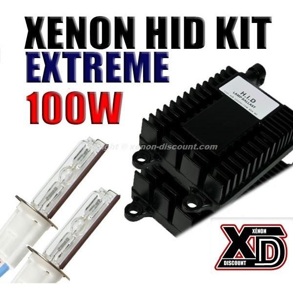 Kit xénon H1 5000K 100W Performance