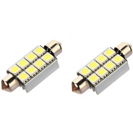 Ampoule LED Navette C5W 42mm 8 leds Canbus