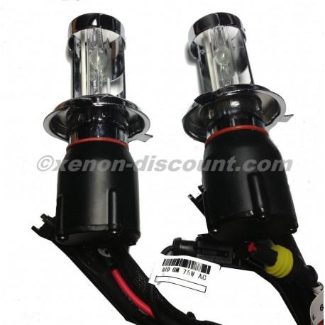 2X Ampoules 6000k Bi-xénon H4 75w