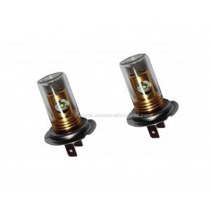 2 ampoules Cree H7 20W avec cloche en verre