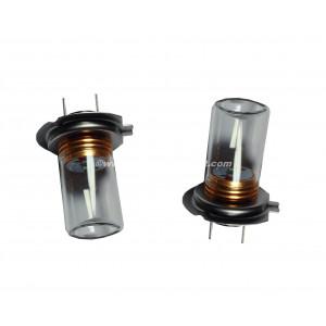 2 ampoules Cree H7 5W avec cloche en verre