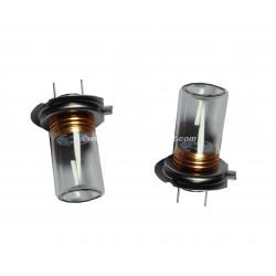 2 ampoules Cree H7 5W avec Verre Blanc Pur