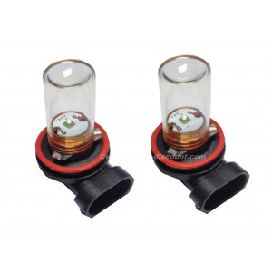 2 ampoules Cree H11 5W avec cloche en verre