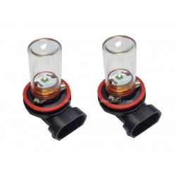 2 ampoules Cree H11 5W avec Verre Blanc Pur